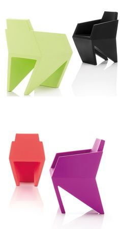 Polyethylene low lounge #chair GEMMA by @B-LINE | #design Karim Rashid #colour
