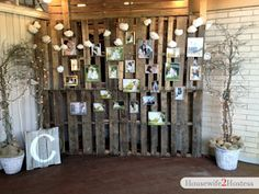 Lighted pallet wall for reception