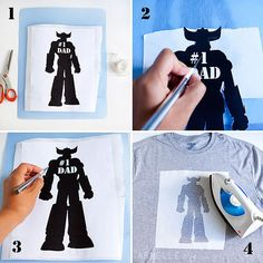 :: armelle blog ::: DIY: father's day freezer paper stencil t-shirts ...  tutorial