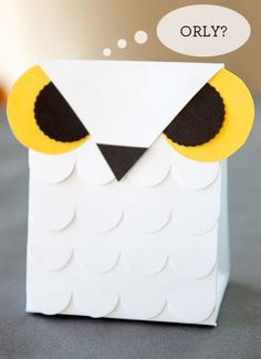Free Printable Snow Owl Treat Bag for Halloween