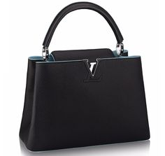 Louis Vuitton Capucines MM black and blue