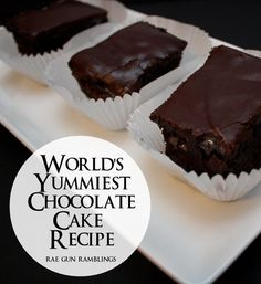 Easy and delicious super rich chocolate cake recipe - Rae Gun Ramblings