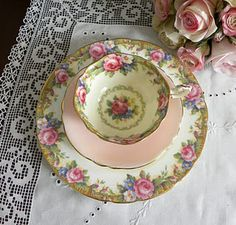 ♥ Welcome to Lil Rose Cottage where friendship is sweet. Come sit at my table & have a cup of hot tea in Tapestry Rose dinnerware...