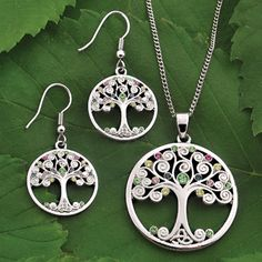Trinity Tree of Life Jewelry, Necklace and Earrings, at Creative Irish Gifts.