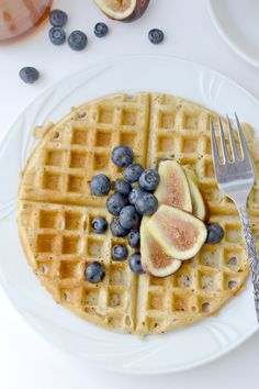 These gluten free waffles were good, using the GF flour mix I pinned from Gluten Free Goddess.