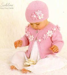 Вязание для девочки комплекта Розовый букет