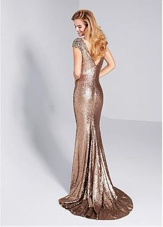 Magbridal Glamorous Sequin Lace Bateau Neckline Cap Sleeves Sheath / Column Evening Dress With Beadings Mermaid Evening Dresses, Evening Gowns, Front Knot Dress, Ribbed Knit Dress, Outfit Trends, Floor Length Dresses, Tube Dress, Belted Dress, Dress Backs