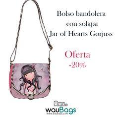 """Consigue el Bolso Bandolera con solapa Gorjuss """"Jar of Hearts"""" by Santoro London, ahora por tan solo 39,75€!!   @waubags #gorjuss #santorolondon #bolso #bandolera #oferta #descuento"""