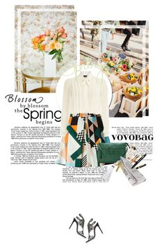 """Starting Spring with VOVOBAG"" by dreamer-ena ❤ liked on Polyvore featuring René Caovilla, MSGM, Dorothy Perkins, Maison Margiela, Spring2015 and vovobag"