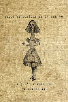 INSTANT DOWNLOAD  Alice in Wonderland  Download and di room29, $3.00