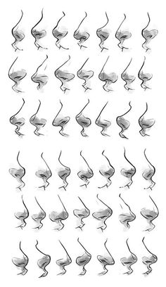 Drawing Nariz Más - Could you do a nose tutorial? Or like a dump if various noses you draw? I've kind of lost my feeling to drawing noses at all angles somehow and I'd like to see some of yours to maybe help? Nose Drawing, Drawing Poses, Drawing Tips, Drawing Ideas, Drawing Techniques, Gesture Drawing, Scared Face Drawing, Drawing Hands, Drawing Stuff