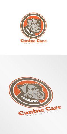 Canine Care Dog Hygiene Logo by patrimonio on @creativemarket