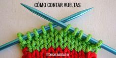 Cómo contar las vueltas manualmente en punto Clothes Hanger, Lana, Knitting, Crochet, Blog, Angela, 3, To Tell, Handmade Envelopes