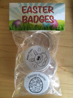 Make your Own Easter Badges Pack of 12 Red Nose Day, Make Your Own, How To Make, Yearly, Happy Easter, Badges, Packing, Valentines, Events