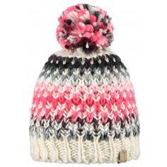 Barts Nicole Beanie Womens Ski Hat in Biege.