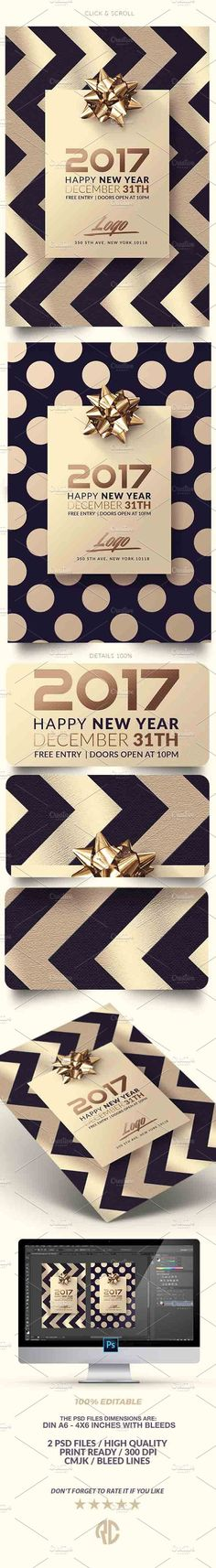 Yeah, so you're going to want to check out New Year Invitation by @romecreation on @CreativeMarket https://crmrkt.com/OV5r8 #newyear #nye2017