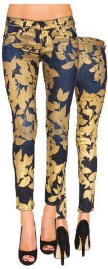 Siwy Hannah Slim Crop Jean in Gold Leaves http://www.shopmanhattanite.com/index.php?main_page=product_info=443_id=4915