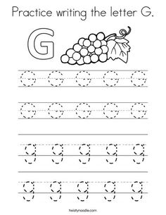 Tracing And Writing the Letter G