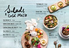 Visuals for the new menu launched by Zizo India - designed by Lara Atkinson. Menue Design, Food Graphic Design, Food Menu Design, Restaurant Menu Design, Web Design, Mise En Page Magazine, Menu Layout, Menu Book, Food Banner