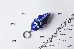 Blue Dragon keychain charm felt stuffed cute door InspirationalGecko