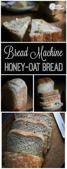 Homemade Honey Oatmeal Bread (Bread Machine Bread Machine Honey-Oat Bread: soft, fluffy and absolutely delicious, and you make this bread, start to finish, in your bread machine – Happy Hooligans Easy Bread Machine Recipes, Best Bread Machine, Bread Maker Recipes, Baking Recipes, Breadmaker Bread Recipes, Oat Bread Recipe For Bread Machine, Recipe For Outback Bread, Rosemary Bread Machine Recipe, Honey Recipes