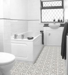 Love this floor - Bathroom tile / indoor / floor / cement NORMANDY Granada Tile
