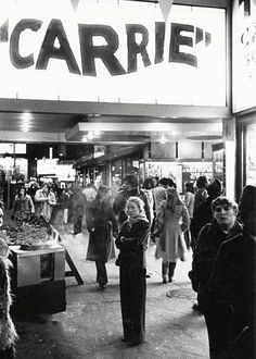 """mabellonghetti: """"""""Sissy Spacek at a screening of Carrie, c.1976 """" """""""