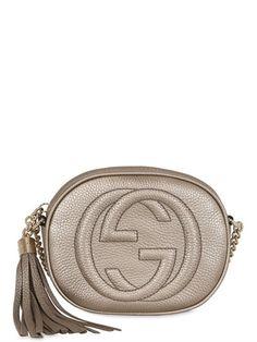 5095bc953265 GUCCI Mini Soho Metallic Leather Shoulder Bag