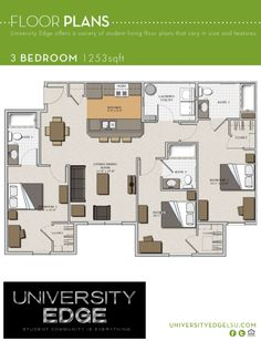 College Apartment - 3 bedroom - University Edge LSU