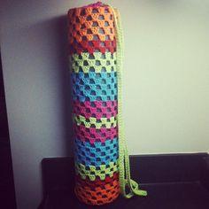 Crochet Yoga Mat Bag on imgfave Yoga Mat Bag, Amazing Art, Knit Crochet, Sewing, Knitting, Colors, Diy Bags, Handmade, Workouts