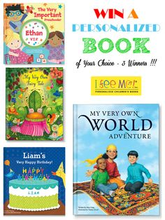 WIN a Personalized Book of Your Choice from I See Me!  - THREE Winners by Bird's Party #win #giveaways #books #kids