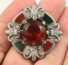 Antique Victorian c1890 sterling silver Scottish agate pebble brooch pin | Украшения и часы, Винтажные и антикварные украшения, Драгоценные украшения | eBay!