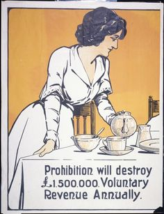 Shows a woman standing at a table pouring a cup of tea. Quantity: 1 colour art print(s). Physical Description: Relief print, on poster 1020 x New Zealand Wine, Sierra Vista, War On Drugs, Vintage Advertisements, Ephemera, The Past, Art Prints, History, Memes