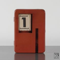 Rare coin bank with calendar by Marianne Brandt for Ruppel