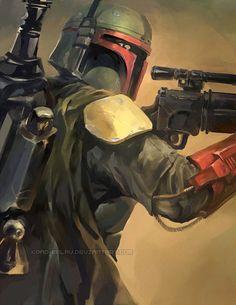 Star Wars - Boba Fett by Krad-Eelav