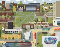 Edmonton  University of Alberta by JasonBlower on Etsy
