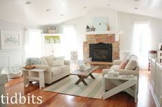 living room goes from a cabin to cottage fresh, living room ideas