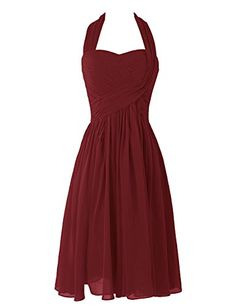 Dresstells® Women's Short Halter Chiffon Party Hoemcoming Dress Bridesmaid Dress Burgundy Size 10 Dresstells http://www.amazon.com/dp/B00UOE0ZXE/ref=cm_sw_r_pi_dp_TSSKvb0V7FM2E