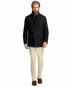 Suede Quilted Walking Coat - Brooks Brothers