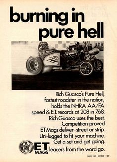 Pure Hell AA/FA roadster in an ET mags advert.