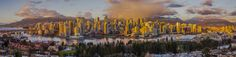 Vancouver winter panorama - Vancouver photo on the run. The sun went down quickly and i had to find a building to shot from quickly. Vancouver Winter, Vancouver Photos, City Architecture, The Good Place, New York Skyline, Skyscraper, Cities, Abstract, Amazing