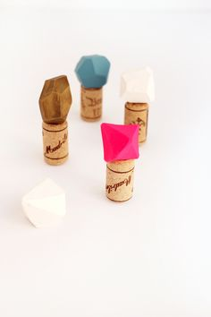 How to make DIY Geometric Bottle Stoppers