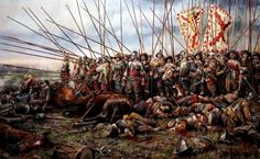 This modern painting by Augusto Ferrer Delmau of the Battle of Rocroi 1643