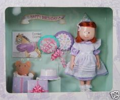 Madeline Doll Birthday Celebration Retired (1998) by Eden. $119.88. in stores and has been retired.. Madeline 8 inch doll Birthday Celebration. Gift Set Complete in Box. Comes with Madeline. in Special Birthday Outfit with Birthday hat,cake ,. Balloons and Teddy Bear present. This item is no longer. Rare and Hard to Find Madeline Doll Birthday Playset complete with cake, balloons, present and game.
