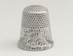 Ketcham & McDougall Antique Thimble (Old Vintage 1900 Sterling Silver Thimble)