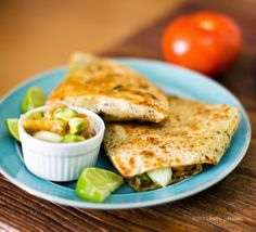 Quickie Cheeseless Quesadillas