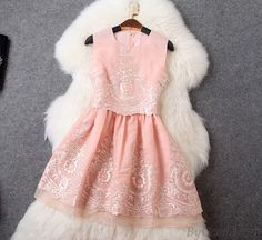 Fashion Embroidered Fake Two Pieces Dress Vest Skirt only $78.99 in ByGoods.com