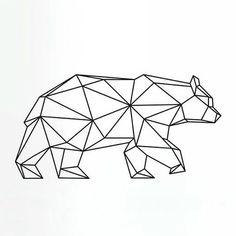 trendy origami tattoo bear geometric animal in 2020 Geometric Bear Tattoo, Geometric Deer, Geometric Tattoo Design, Geometric Drawing, Geometric Lines, Geometric Origami, Origami Tattoo, Simbolos Tattoo, Reaper Tattoo