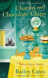 Latest and 3rd release in Bailey Cates' Magical Bakery Mystery Series is Charms and Chocolate Chips.