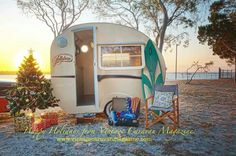 Beach Christmas #RV'ing #trailer
